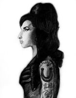 Amy Winehouse by CrookedPictures