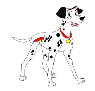 Pongo in diapers by excartoonist