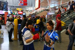 PAX East 2013 - Sakura and Chun-Li by VideoGameStupid