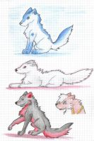 Wolf Charcters by the-gaywolf