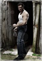 Wolverine coming out of shack by IamTheWolverine