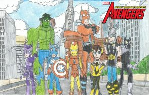 Avengers Earth's Mightiest Heroes!! by FelixToonimeFanX360