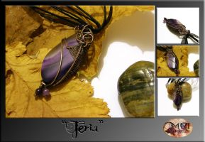 Feria- wire wrapped pendant by mea00