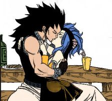 Gajeel and Levy by Allanravel