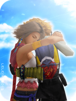 YUNA AND TIDUS by LELERK