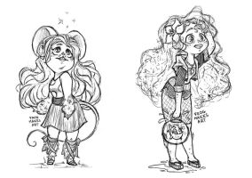 Monster High sketches 001 by FrogMakesArt