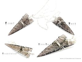 Four Notched Arrowhead Necklace - 1st Etsy Posting by DanielAPierce