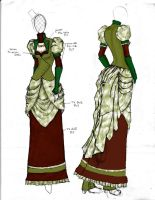 Victorian/Steampunk Fashion Design 2 by angerbunnie