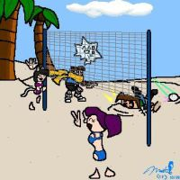 Volleyball Smileys by cheddarpaladin