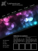 Black Web Template by emperorwarion