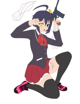 Base Color WIP - Rikka Wicked Lord Shingan ver. by return-null