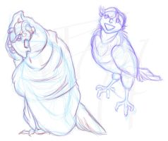 Harpies - More Doodles by RoninReaver