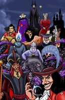 Disney VILLAINS Colored by thEbrEEze