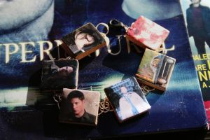 Supernatural Scrabble tile Charm Bracelet by KouranKiyo