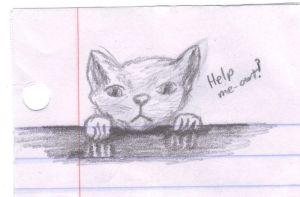 Clinging Cat sketch by BardicKitty
