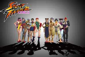 Street Fighter Girls XNALARA by simpleguyfa