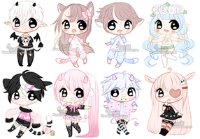 Chibi Mix Adoptables 2 [ CLOSED ] by Hunibi