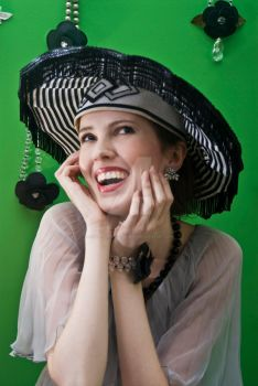 Beautiful smile + awesome hat by redbootsphotography