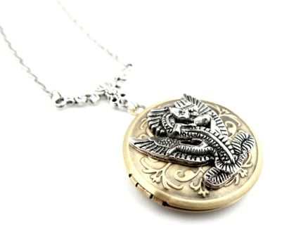 Magical Dragon Locket by IndustrialSwank