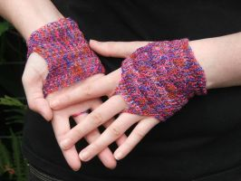 Funky fingerles gloves by White-Hand