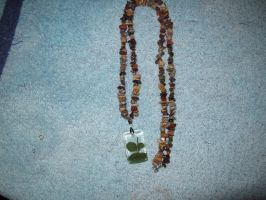 Male four leaf clover necklace by Fallonkyra