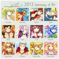 2013 Art Summary by kirej7