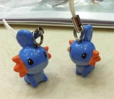 Mudkip Charms by Meiyoukat