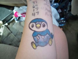 Piplup Sharpie Tattoo by bueatiful-failure