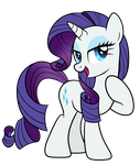 Rarity Vector by drawponies