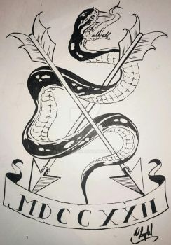 Snake and Arrows by Rawkwilder