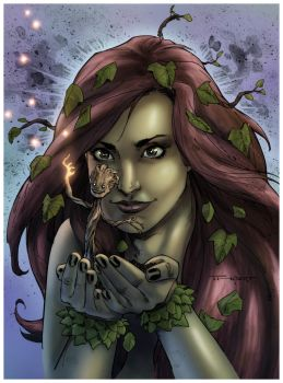 Poison Ivy and Groot colored by Empienada by Empienada