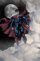 Superman In The Nights Sky by SUPERMAN3D