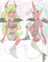 The Demon Sisters by YoungAngelStocking