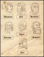 Arcanum characters by Okina-tyan