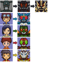 Digimon Pixel Art by FlamedramonX20