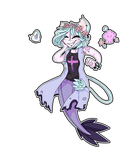 Pastel Goth Kemonomimi Mermaid (CE) by castformgrass