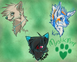 PC: colored sketch headshots by MystikMeep