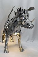 Wild Boar lit by HubcapCreatures