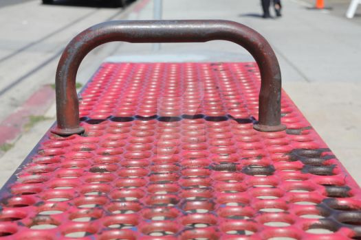 Long Beach Red Bus Bench by ChinookDesigns