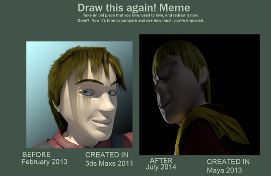 Meme  Before And After model comparion by AnimatingDreams