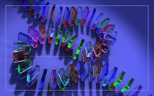 3D Glass Dominoes 2 by THE-LEMON-WATCH