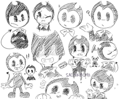 Bendy and the Ink Machine - ALOT OF BENDYY by SachikoChii