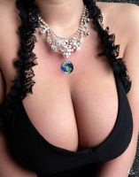 134743 - Big Boobs Black Bra Bra Cleavage Collage  by poloswag