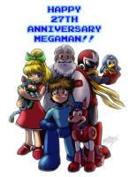 Megaman 27th anniversary by MatiasSoto