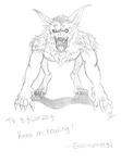 BigLion2013 - werewolf by Gojihunter31