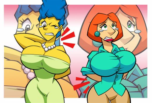 Marge vs Lois: Round 4 by ChadRocco