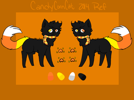 .: Candy Corn Cat 2014 Ref :. by AlbinaReed