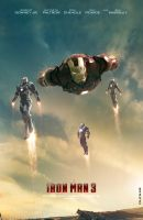 Iron Man 3 Movie Poster by Olenar
