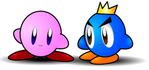 Kirby and prince fluff by cutenessawsomness