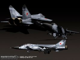 Mig-31 textured by senor-freebie